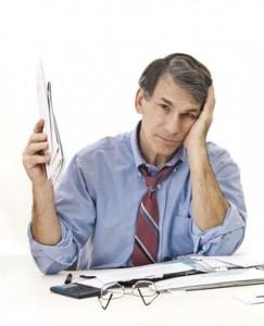 businessman managing finances