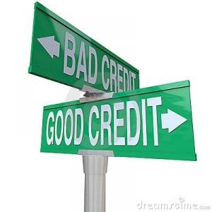 bad and good credit signs